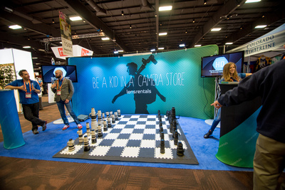 Lensrentals.com had a fabulous display with canon and nikon lenses creating a full chess set at  WPPI 2016 in Las Vegas, NV.