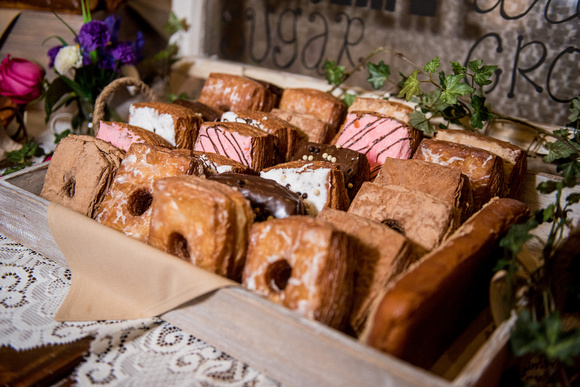 Delicious cronuts from Peterson's Donut Corner on the dessert table.