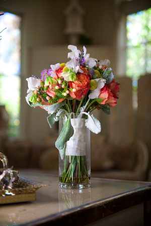 Multicolored Rainbow Bouquet in vase